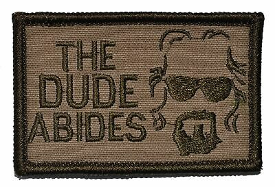 The Dude Abides, The Big Lebowski - 2x3 Hat Patch Police Military Morale Patch