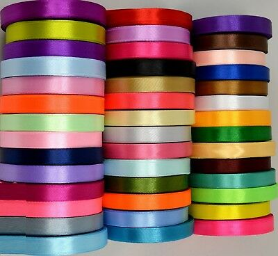 50 ROLLS OF 6 MM SATIN RIBBON 50 COLORS 25 YARDS each **BARGAIN, RRP £75.00