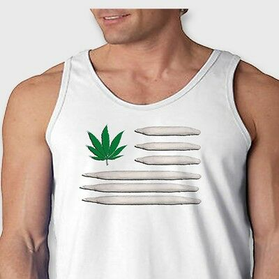 POT LEAF FLAG Joints Weed 420 T-shirt Kush Marijuana Stoner Men's Tank Top