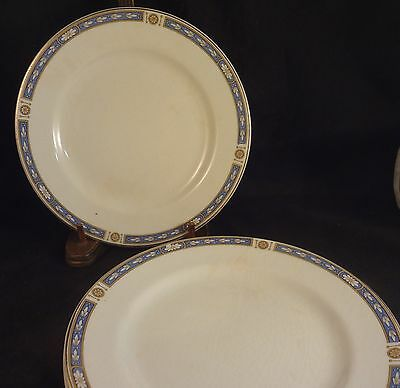 MONMOUTH - GRINDLEY China DESSERT / PIE PLATES (Set of 4)  Blue Bands