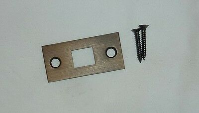 "Decorlux 2.25"" MBF-044 Mortise Bolt Front Door Strike Plate + Screws AGED BRASS"