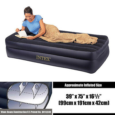 INTEX Deluxe Pillow Rest Raised Inflatable Air Bed Mattress 66721