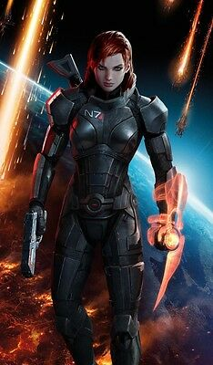 Mass Effect 2 3 4 Game Fabric Art Cloth Poster 24inch x 13inch