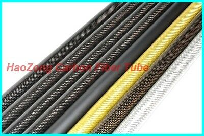 27 MM OD x 25 MM ID Carbon Fiber Tube 3k 500MM Long  (Roll Wrapped) carbon pipe