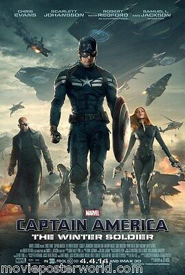 CAPTAIN AMERICA THE WINTER SOLDIER MOVIE POSTER DS ORIGINAL US FINAL 27x40