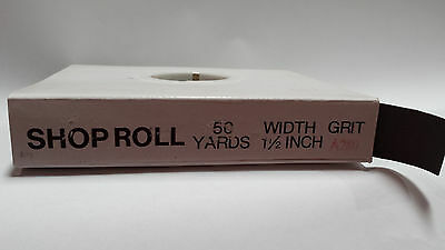 "1.5""x 50 YD Aluminum Oxide Emery Cloth Sandpaper Shop Roll – Metals  - 280 Grit"