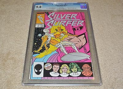 Cgc 9.8 Silver Surfer #1 1St Galactic Issue! *origin Retold* White Pages!!! 1987