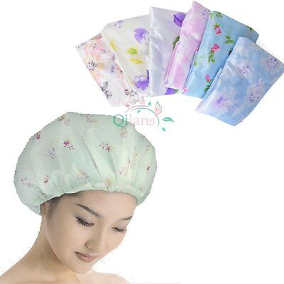 Durable Women Lady Waterproof Elastic Shower Bathing Bouffant Salon Hair Cap Hat