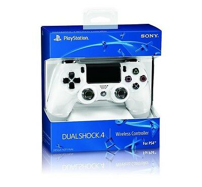 Official Sony PlayStation 4 PS4 Dualshock 4 Wireless Controller (Glacier White)