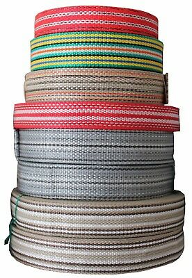 Webbing Strapping Poly Tape Various Colours Sizes Lengths Polypropylene Diy