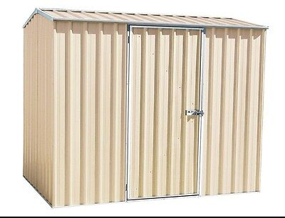 Garden Shed Absco Eco-Nomy Range Cream Medium Outdoor Tools & Bikes Storage NEW