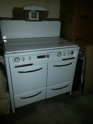 Vintage Antique White Wedgewood Double Oven Excellent Condition