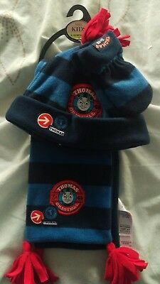 Marks & Spencer Thomas The Tank Engine Hat Scarf Gloves 6 - 18 Months M & S Kids