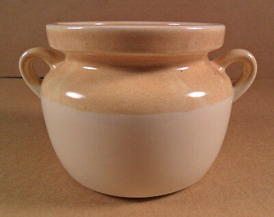 Vintage MCCOY Tan/Cream Bean Pot Crock w/ Handles #9189 Made in the USA
