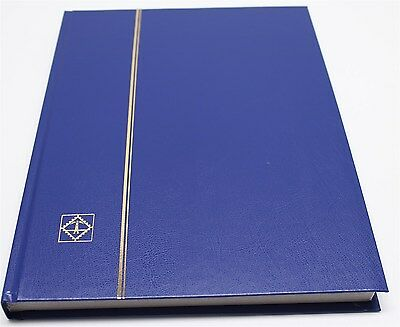 BLUE 32 Page Lighthouse Stamp Stock Book with White Pages, 9 Strips per Page