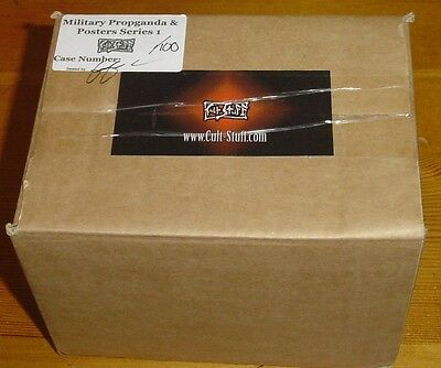 Military & Propaganda Posters Sealed Numbered Case of 10 x Trading Card Packs
