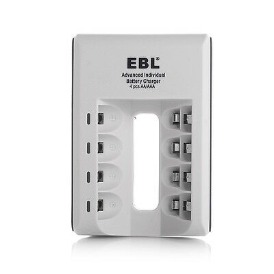 EBL 4 Bay Quick Battery Charger For AA AAA Ni-MH/Ni-CD Rechargeable Batteries