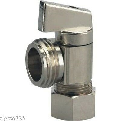 "5/8"" OD x 3/4"" MHT 1/4 TURN ANGLE STOP BALL VALVE (WASHING MACHINE ANGLE STOP)"