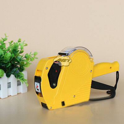 MX5500 8 Digits Price Tag Gun Yellow Marker Labeller Stickers+Blank Labels+ink