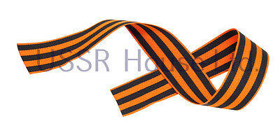 50 Cm Plain Ribbon USSR Soviet Russian WW2 St George 9 May Victory Day Symbol