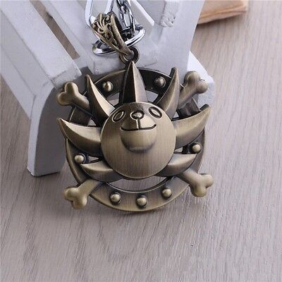 ONE PIECE  Retro Bronze Skull Necklace In bag Free shipping