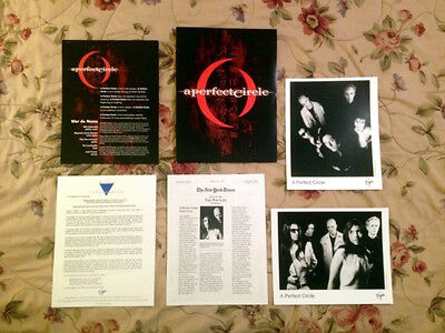 "A Perfect Circle ""Mer De Noms"" Press Kit w/ 8""x10"" Photos *RARE* Tool Puscifer"