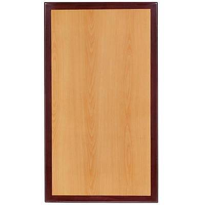 30'' X 42'' Rectangular Two-Tone Resin Cherry And Mahogany Table Top