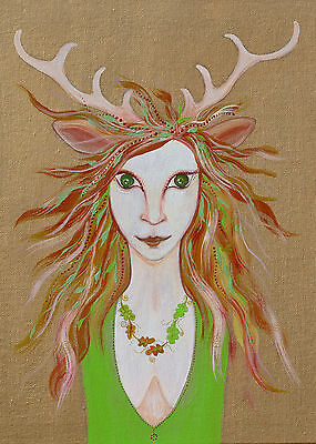 Celtic Goddess Elen of the Ways Greeting Card - 3 options available