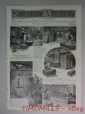1881 How Candles Are Made Manufactory of Proctor & Gamble Antique Cincinnati OH