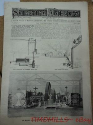 1894 Hiram Maxim Steam Power Flying Machine ORIGINAL