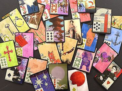 The Japanese Vintage Lenormand Fortune Telling Oracle Cards Deck Non Tarot