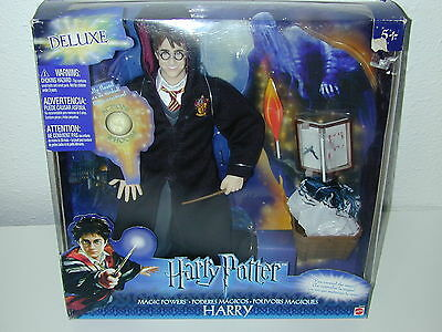 NEW Old Stock Harry Potter Doll Figure Deluxe Magic Powers Mattel 2003 C3145