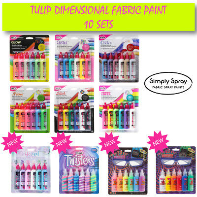 NEW Tulip Dimensional Fabric Paint -Glow,Glitter,Puffy,Neon,Slick,Crystals