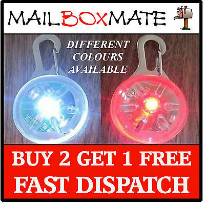 LED Dog Cat Pet Tag - Carabiner Clip Flashing Blinking Collar Tag Clip