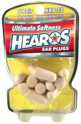 HEAROS - Value Pack Ear Plugs / Filters Foam 6 Pairs *NEW* Noise Reduction USA