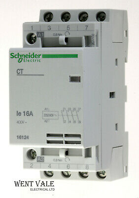 SCHNEIDER 16127 CT 16A 250V Amp 2 Pole Contactor With Manual Selector