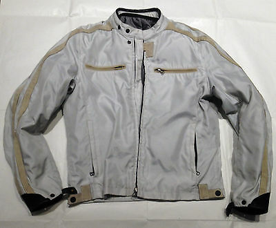 DAINESE SAN DIEGO CORDURA JACKET WITH LEATHER STRIPE - SIZE 50 - GOOD CONDITION
