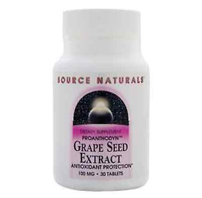 SOURCE NATURALS Grape Seed Extract 100mg 30 tablets