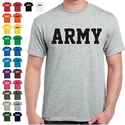 US ARMY Physical Training Military PT T Shirt  24 Color Combinations 8 Sizes