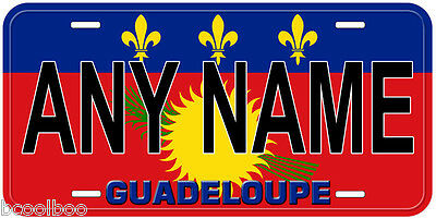 Guadeloupe Flag Aluminum Novelty Car License Plate