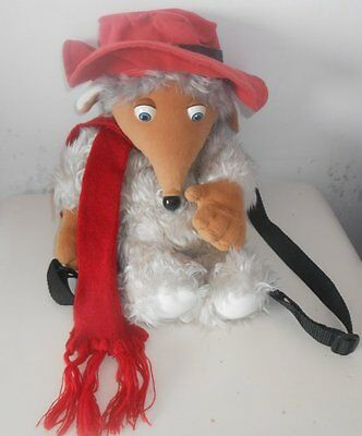 "1998 The Wombles - ORINOCO - 13"" Plush Backpack / Bag / Toy  (1)"