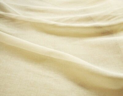 "100% Cotton Cream Muslin Fabric Cheesecloth 51"" Wide P/mtr -Minimum Order 6Mtrs"