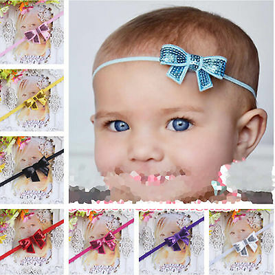 Newest Newborn Baby Girl Headband Infant Toddler Bow Hair Band Girl Accessories