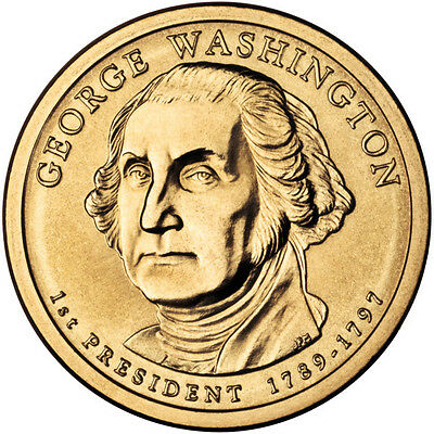 2007  P & D  George Washington  Presidential Dollar Coins