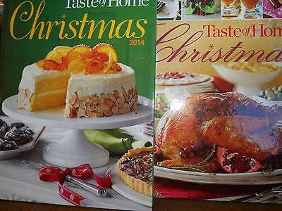 Taste of Home Christmas 2 pack new hardcover 2014 and 2013 books