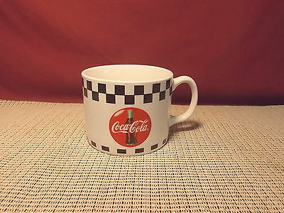 Gibson China Coca Cola Design Black Checks Coke In Red Circle Large Mug