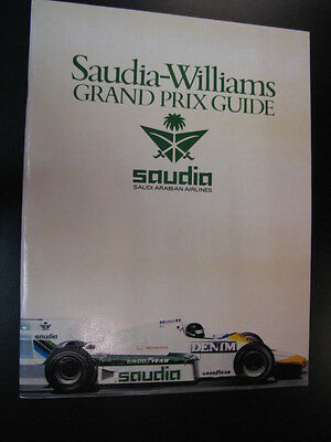 Brochure Saudia Williams Grand Prix Guide 1984 (Engels)