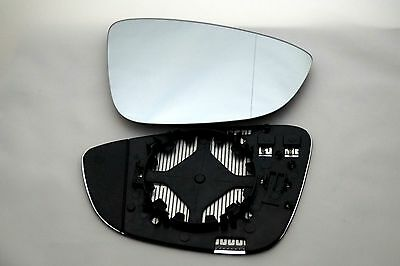 Fits Vw Passat Cc 2009+ Door Wing Mirror Glass Aspheric Heated Right Side