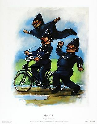 "Barry Leighton-Jones ""Flying Squad"" police NEW PRINT! SIZE:27cm x 35cm  RARE"