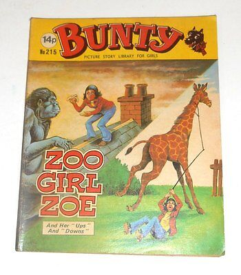 #215 Bunty Picture Library - ZOO GIRL ZOE - 1981